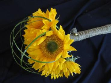 Sheltered Sunflowers Bridal Attendant Bouquet