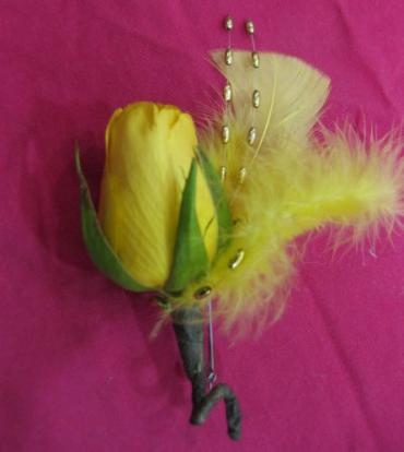 Fine Feathered Boutonniere