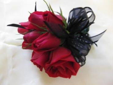 Ruby Wrist Corsage for the Mother of the Groom